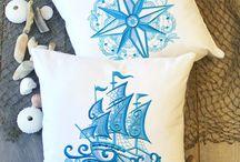 Machine embroidery nautical