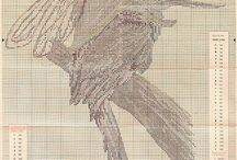 схемы вышевки крестом