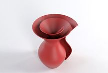 Royal Vase — Studio / Royal Vase —  Year / 2010 — Client / Private — Project / Limited Edition — Material / 3D Printed Piece — #Design #Vase #Home #InteriorDesign #Cool #Accesories #Red #Flower