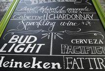 Inspiration ⋮ Chalkboard ☆ / De jolies ardoises d'intérieur, ou pour de bien jolis mariages