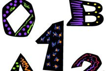 Funky Letters and Numbers Digital Clip Art / Alphabet and Numbers Clip Art - Funky Alphabet and Numbers Clip Art. WELCOME to this STUNNING collection of Funky Alphabet and Numbers Clip Art images.   This bundle contains 41 high-quality COLOR Funky Alphabet and Numbers Clip Art images. Images saved at 300dpi in PNG files.  This Funky Alphabet and Numbers Clip Art set includes:  - uppercase letters (A-Z) - numbers (0-9) - question mark  ENJOY!!!