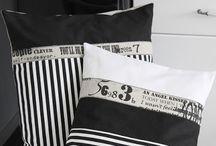 fekete-fehér párna