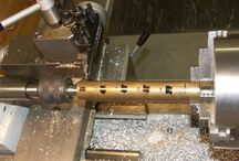 Gear Cutting / Cutting small brass gears on a milling machine using a fly cutter. Setting up the blank on the lathe first, then fly cutting on the mill with an indexing wheel,
