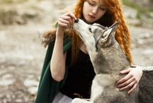 Woman and Wolfes