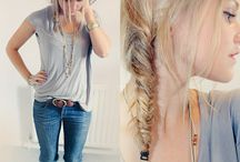 Hair / Own that ponytail! Work that up-do!  / by Katelyn Broad
