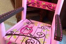 sedie dipinte