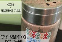 Trockenshampoo für dunkle haare / Trockenshampoo