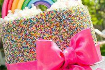hannah 5th bday / rainbow theme