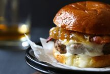Cheeseburgers / Veer from the traditional when deciding what cheese to put on your next burger. You can use Joan of Arc® cheeses stuffed inside and crumbled or sliced on top!