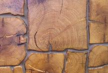 Wood The wall