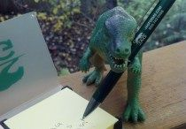 T-Jag / The adventures of T-Jag, the plastic toy dinosaur who is our company's Director of Awesome!