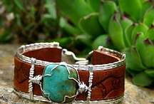 Carved Leather Cuffs