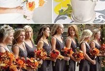 August Orange and Yellow Wedding Themes / Check out http://www.yourstrulyweddingalbums.com/ for wedding album samples!