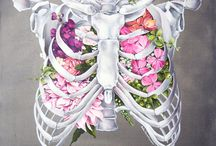 Flowers and anatomy decor