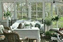 Terasy, zimní zahrady