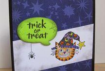 """Halloween Cards"" I made"