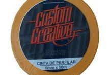 Cintas de perfilar y enmascarar Custom Creative / Una amplio surtido de cintas de enmascarar y perfilar de la marca Custom Creative para todo tipo de trabajo con patterns.
