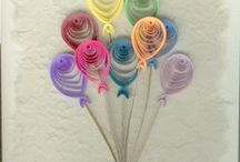 Birthday quilling cards