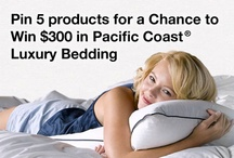 Contest: Pinterested in Bedding / Create a Pinterest pin board featuring your 5 favorite Pacific Coast® Bedding products for a chance to win up to $300 in luxury bedding. Enter the contest by filling out the form at this link: https://www.pacificcoast.com/enter-pinterest-contest.htm