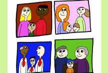 Every Family is Different. Every Family is the Same / Children who have same-sex parents, who are being brought up by grandparents, who are in large families, mixed-race families, children in foster care will all find households they can relate to in this charming story, which normalises and celebrates difference, while looking for similarities between the people who are portrayed.