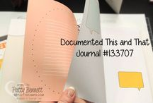 Journals from Stampin Up / This and That product line including Journals, Stickers, Washi Tape and accessories from Stampin' Up! to document your journey and special events!  order at www.PattyStamps.com / by Patty Bennett