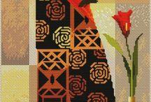 Ponto Cruz africana 1 / Quadro em  ponto cruz