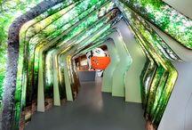 Creativity Mood Board / Exhibition spaces