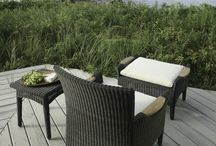 Resin Wicker Furniture / Resin wicker has the classic style of natural wicker furniture but is durable enough to withstand the elements.  Furniture shown here can be purchased at www.rockymountainpatiofurniture.com