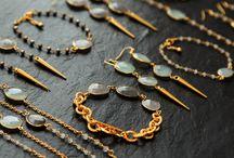 Rosehip Jewelry aqua blue chalcedony and smoky quartz / Aqua blue chalcedony and smoky quartz designs by Rosehip Jewelry