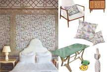 The Pojaji Collection and Their Mood Boards / Fabrics in the Italian fifties mood.