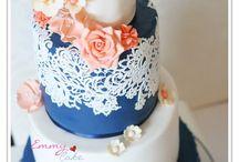 wedding navy&coral