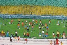 Arte Naif na Copa do Mundo - Brasil 2014 / Obras de 18 artistas expostos na Galeria Jacques Ardies