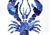 Blue lobster art project