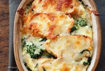 Recipe Roundup: Cozy Weekend Breakfasts. Broccoli Rabe, Pesto and Smoked Mozzarella Strata (shown)