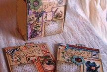 scrap boekjes kalenders doosjes / scrap