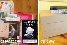 Organised paperwork / Ways to keep control of paperwork without getting stressed. Tips for organising a filing system. How to declutter papers.