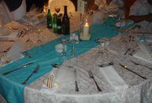 Sea wood, pebbles and shells wedding