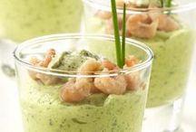 verrine courgette crevettes