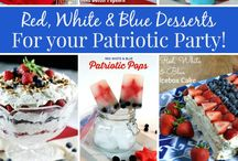 {I love} Fourth of July / Everything you need to throw a successful July 4th shindig! Decorations, Recipes and more! And of course all kinds of red, white and blue!