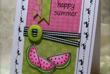 Card making: Summer / by Isabelle Potter @ IzzyCards