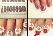 Pink summer and rainbow nails ♥♥