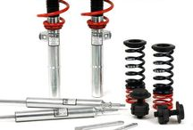PERFORMANCE SUSPENSION / Height adjustable springs kits are a great alternative to conventional springs. You don't have to be satisfied with a fixed lowering as you can adjust the height with the height adjuster even after the kit has been installed.  Your vehicle does not only get a more dynamic look with the height adjustable spring kit, but also the steering behaviour and response of the standard dampers becomes more agile
