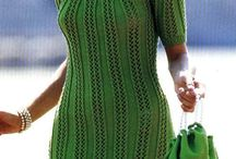 ажурное зеленое платье