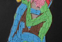 Giocando a....mosaico / Quadretti realizzati con la tecnica mosaico con le tessere di spumella