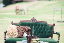 Wedding Seating / Outdoor unique seating around property