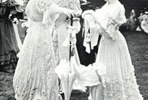 All white edwardian dresses