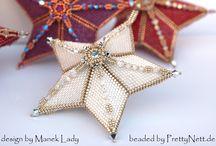 Christmas Beaded Ornaments