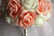 ~Artificial Wedding Flowers By Darling Buds~~ / Artificial wedding flowers are fast becoming very popular with brides for lots of reasons.  The roses come in lots of different colours. They are perfect for weddings home or abroad. You can have them made and put away long before your wedding day. But best of all you get to keep them forever xxx