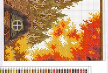 cross stitch seasons, months...