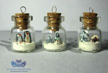 Tiny jars with.... content on a sterling silver chain. / Μικροσκοπικά βαζάκια με... περιεχόμενο σε ασημένια αλυσίδα. Tiny jars with.... content on a sterling silver chain.